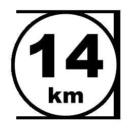 14 km reitti