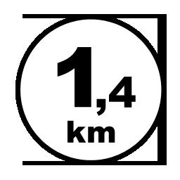 1,4 km reitti