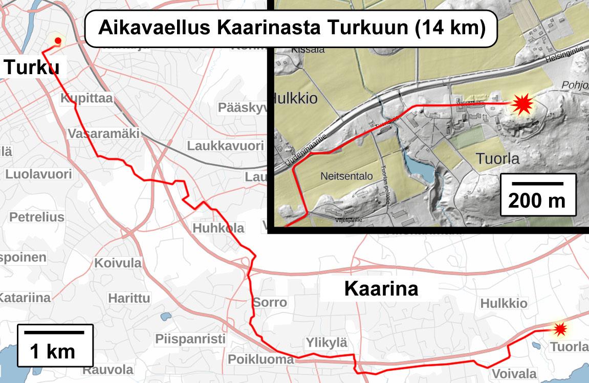 Aikavaellus Kaarinasta Turkuun Aikavaellus
